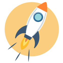 icon of rocket ship taking off
